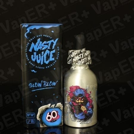 Picture of Slow Blow 60ml E-Liquid By Nasty Juice