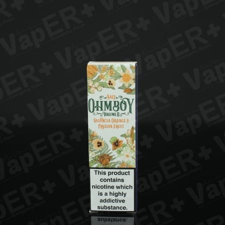 Picture of Valencia Orange and Passion Fruit E-Liquid By Ohm Boy Salts
