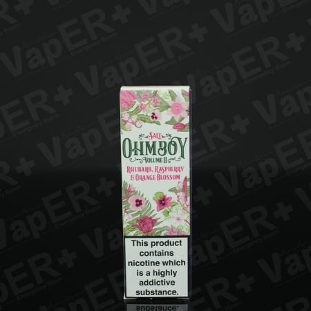 Picture of Rhubarb, Raspberry and Orange Blossom E-Liquid By Ohm Boy Salts